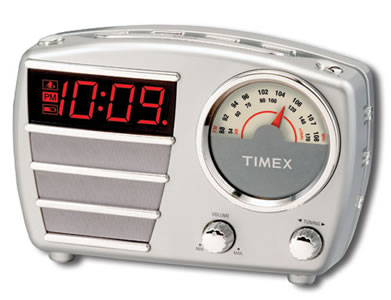 t247b retro timex radio alalrm clock. Black Bedroom Furniture Sets. Home Design Ideas